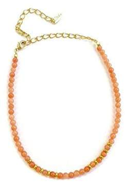 Ettika Still Surprise You in Coral and Gold Choker Necklace