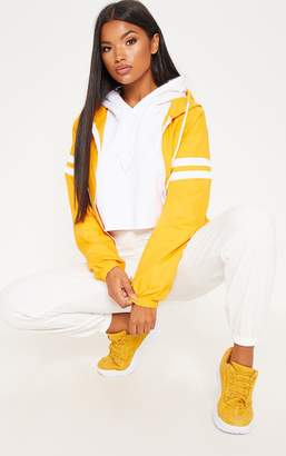 PrettyLittleThing Yellow Stripe Detail Tracksuit Jacket