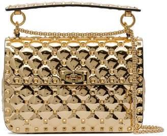 Valentino metallic gold rockstud spike leather crossbody bag