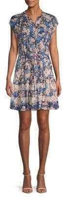 Rebecca Taylor Gigi Floral Silk Shirtdress