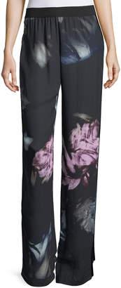 Fuzzi Floral Crepe Track Pants