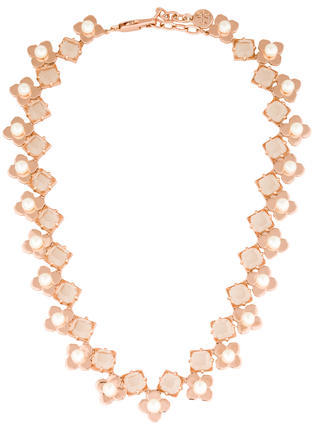 Tory BurchTory Burch Faux Pearl & Crystal Collar Necklace