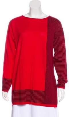 St. John Stripe Wool Sweater