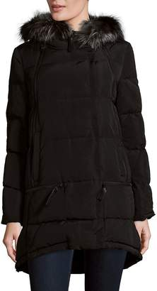 Derek Lam 10 Crosby Women's Relaxed Fox Fur Trim Parka - Black, Size x-small