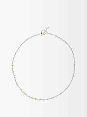 All Blues - Rope Chain Sterling Silver Necklace - Mens - Silver