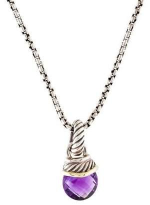 David Yurman Amethyst Acorn Enhancer Pendant Necklace