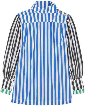Sonia Rykiel Striped Cotton-poplin Shirt - Blue