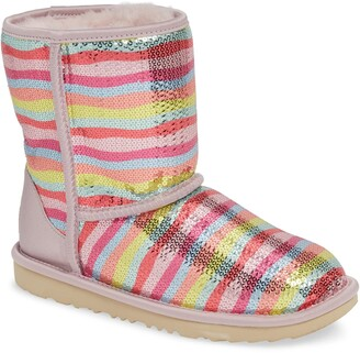 UGG Rainbow Classic Short II Sequin Stripe Boot