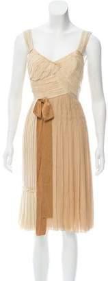 Prada Pleated Silk Dress