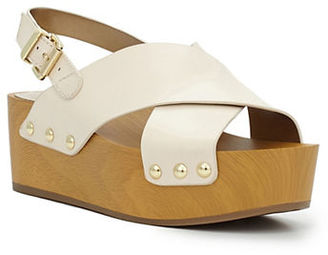 Sam Edelman Studded Leather Wooden Wedge Sandals $110 thestylecure.com