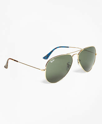 Brooks Brothers Ray-Ban Aviator Sunglasses with Tartan