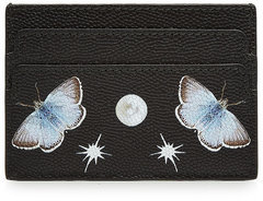 Alexander McQueen Alexander McQueen Nocturnal Print Calf Leather Skull Card Holder