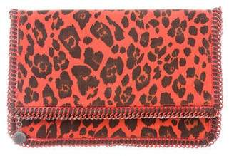 Stella McCartney Printed Falabella Fold-Over Clutch