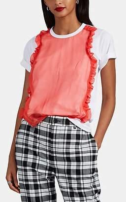 Comme des Garcons Women's Tulle-Layered Cotton T-Shirt - White