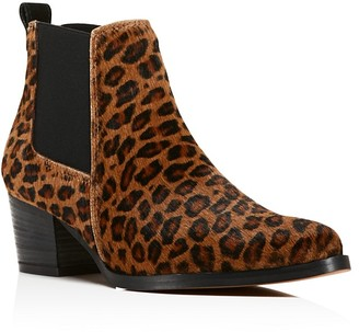 Kenneth Cole Russie Leopard Print Calf Hair Chelsea Booties - 100% Bloomingdale's Exclusive $199 thestylecure.com