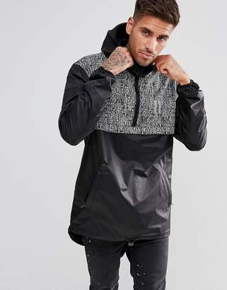 11 Degrees windbreaker jacket in black with reflective speckle