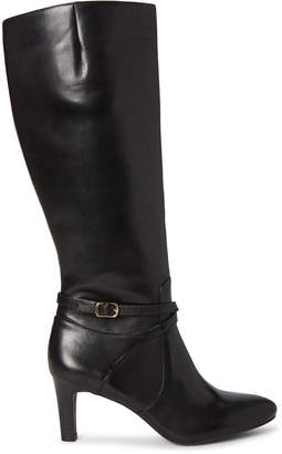 Lauren Ralph Lauren Black Elberta Knee-High Leather Boots