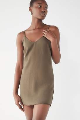 Urban Outfitters Raw Hem Linen Slip Dress