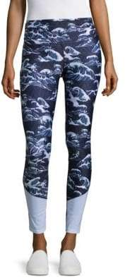 We Are Handsome Contrast Panelled Leggings