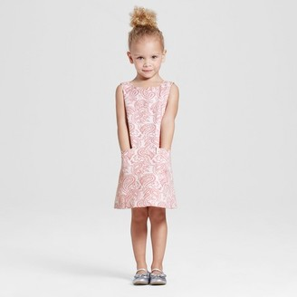 Victoria Beckham for Target Toddler Girls' Blush Floral Jacquard Shift Dress $25 thestylecure.com