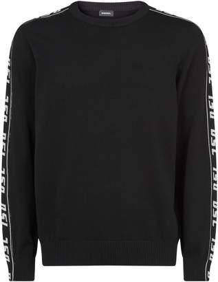 Diesel Side Logo Stretch Knit Sweater
