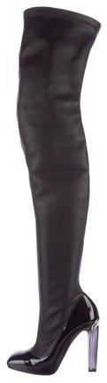 Alexander McQueenAlexander McQueen Leather Thigh-High Boots