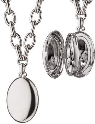 Monica Rich Kosann Premier Sterling Silver Locket Necklace, 18""