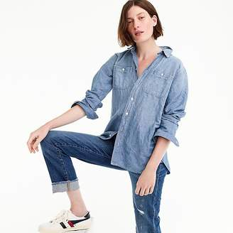 J.Crew Petite relaxed chambray boy shirt