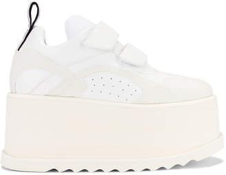 Stella McCartney Platform Velcro Sneaker in White   FWRD