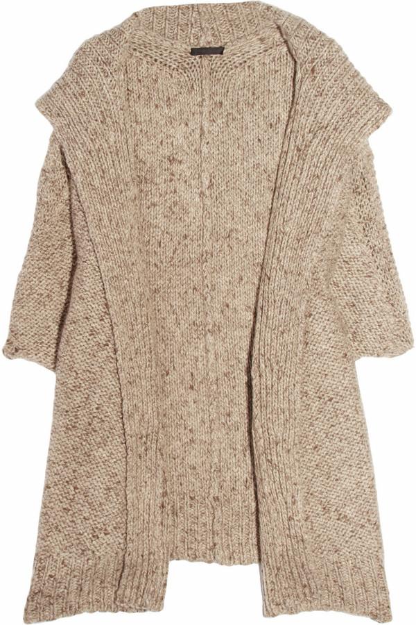 Donna Karan Oversized hooded cashmere cardigan