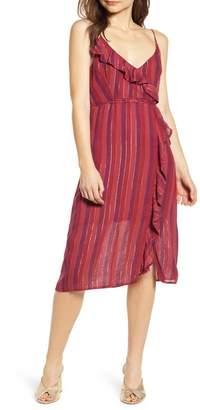 Rails Ariel Stripe Faux Wrap Dress