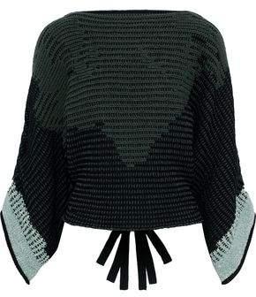 3.1 Phillip Lim Draped Cotton-Blend Jacquard Sweater