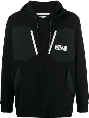 White Mountaineering logo contrast patch hoody