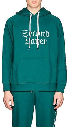 Second / Layer Men's Logo-Embroidered Cotton Terry Hoodie