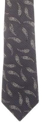 Chanel Silk Paisley Print Tie