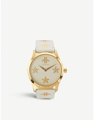 Gucci YA1264096 G-Timeless yellow-gold PVD watch