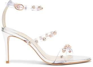 Sophia Webster Rosalind Gem Crystal Embellished Sandals - Womens - Silver