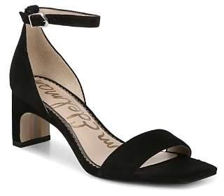 Sam Edelman Women's Holmes Suede Block Heel Sandals