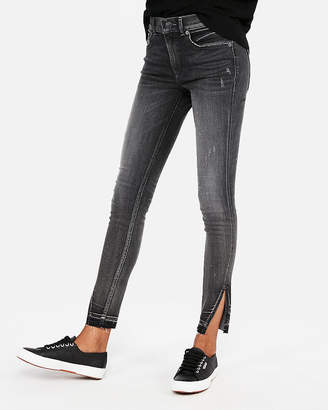 Express Petite High Waisted Denim Perfect Stretch+ Ankle Jean Leggings