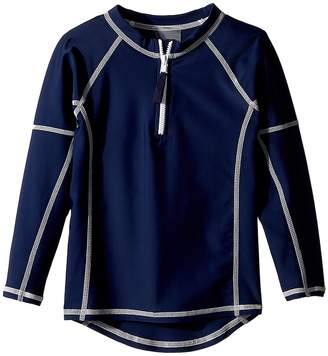 Toobydoo Navy Rashguard w/ Long Sleeves Kid's Swimwear