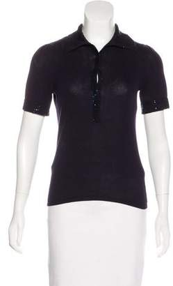 Magaschoni Bead-Embellished Knit Top