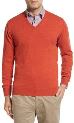 Men's David Donahue Cashmere V-Neck Sweater $295 thestylecure.com