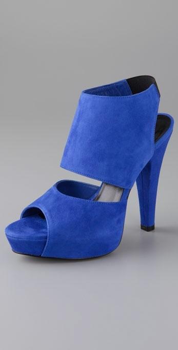 Jenni Kayne Suede Two Piece Sandals on Platform