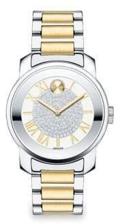 Movado Bold Luxe Stainless Steel Bracelet Watch