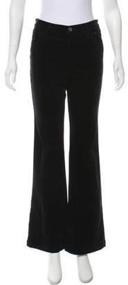 J Brand Maria Flare Velvet Mid-Rise Jeans