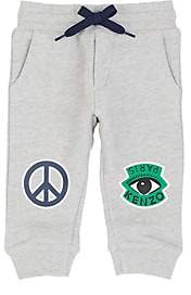 Kenzo Infants' Graphic-Print Cotton French Terry Pants-Gray