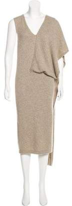 Tom Ford Cashmere Scarf-Accented Dress
