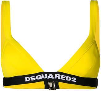 DSQUARED2 logo printed bikini top