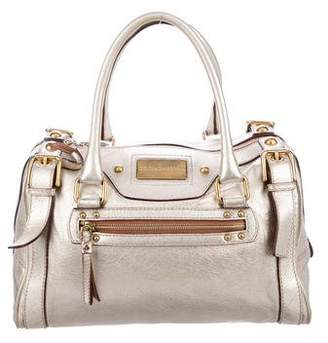 Dolce & Gabbana Metallic Leather Chain Satchel