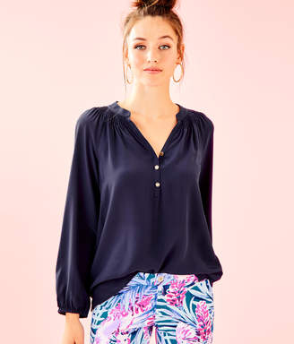 Lilly Pulitzer Womens Elsa Silk Top